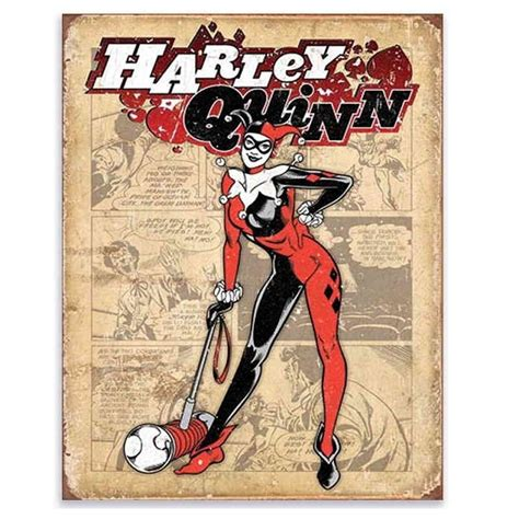 Retro Quinn batman harley quinn retro metal tin sign kidscollections