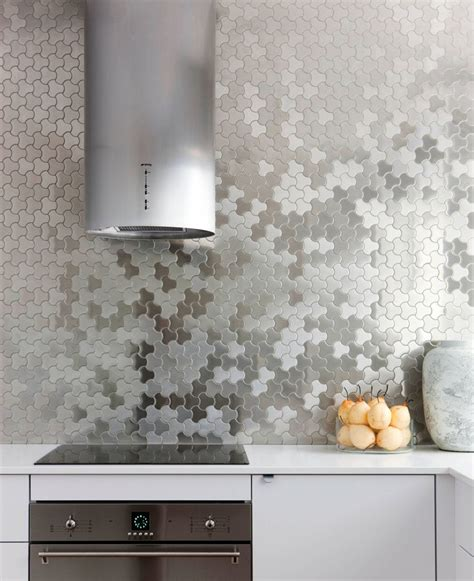 Metal Backsplash Tiles For Kitchens Kitchen Design Idea Install A Stainless Steel Backsplash For A Sleek Look Contemporist