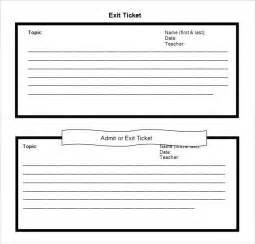 Exit Ticket Template by Doc 585465 Exit Ticket Template Exit Ticket Template 9