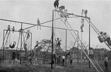 who invented the swing playground equipment early 1900s thewaywewere