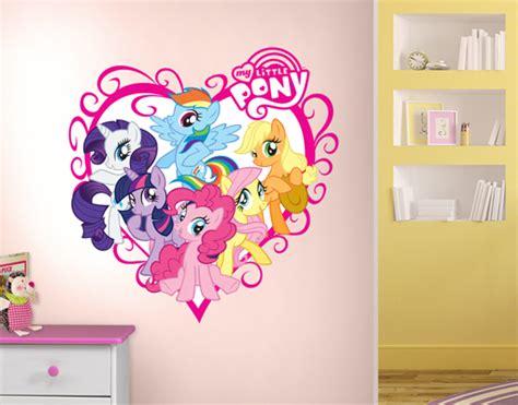 my little pony bedroom wallpaper wandtattoo no 702 my little pony herz 83x85 sticker art