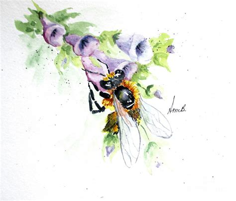 honey bee painting by april mccarthy braca