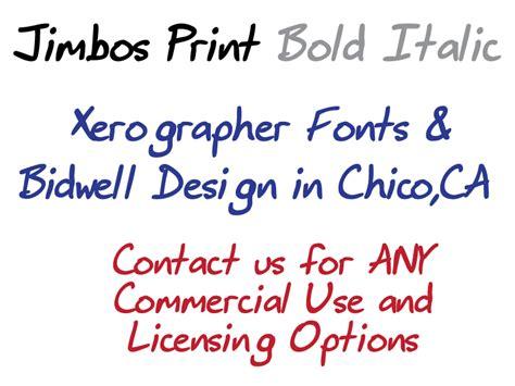 xerographer dafont jimbos print font dafont com