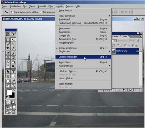 fenster über eck lineale einblenden fotodidakt de adobe photoshop tutorial