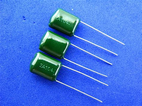 capacitor code for 100nf 2a104j 100v 0 1uf 100nf polyester capacitor 250pcs lot polyester capacitor