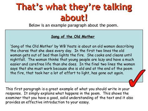 5 Paragraph Essay Poem Analysis by Poem Analysis