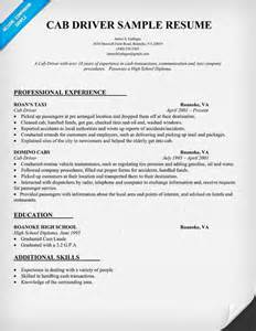 taxi driver resume sample 搜狗英文