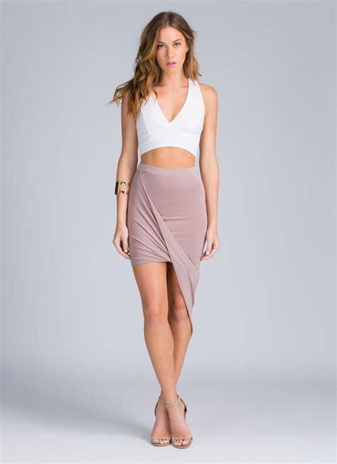drape up asymmetrical skirt drape up asymmetrical skirt white fuchsia black hgrey