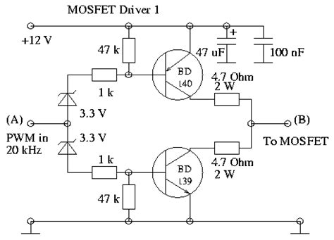 transistor l driver circuit some power pwm drivers for electric dc motors