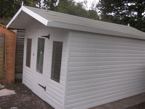 extended roof upvc shed with extended roof