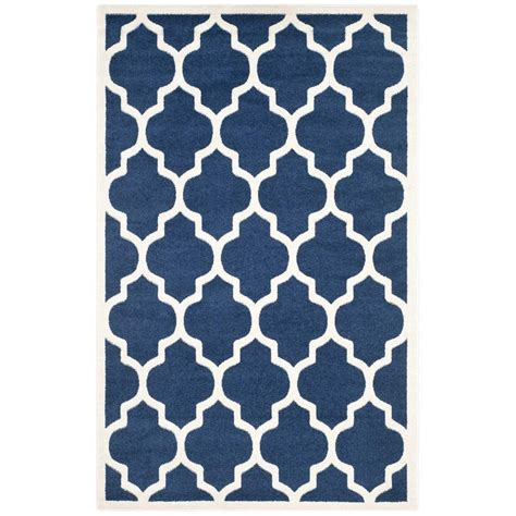 4 x 6 outdoor rugs safavieh amherst navy beige 4 ft x 6 ft indoor outdoor area rug amt420p 4 the home depot