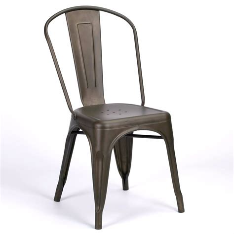 Cafe Style Dining Chairs Vintage Cafe Style Burnished Zinc Dining Chair Furniture La Maison Chic Luxury Interiors
