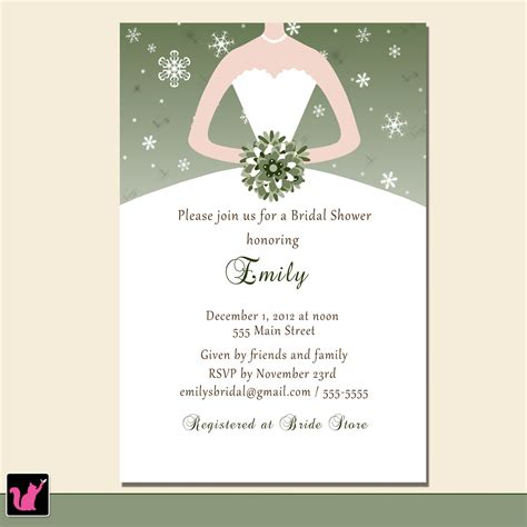winter bridal shower invitations printable bridal shower winter invitations