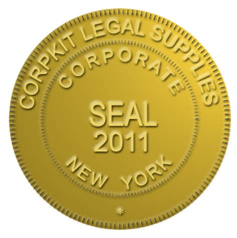 company seal template