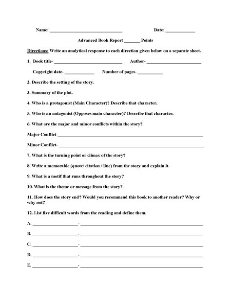 2nd Grade Book Report Forms by Printable Book Report Forms For 4th Grade Book Report