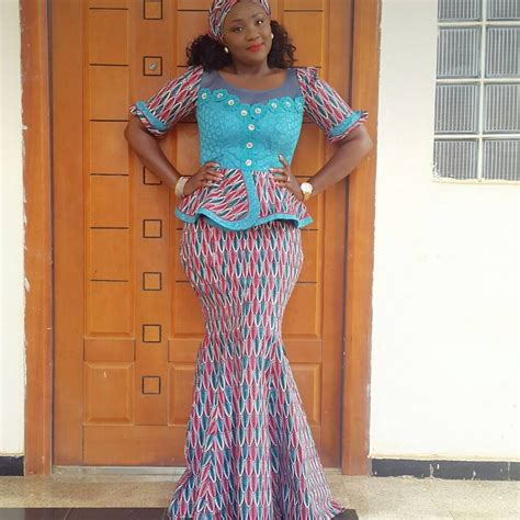 latest nigeria ankara style blouse and skirt latest ankara skirt and blouse pictures peach chevron blouse