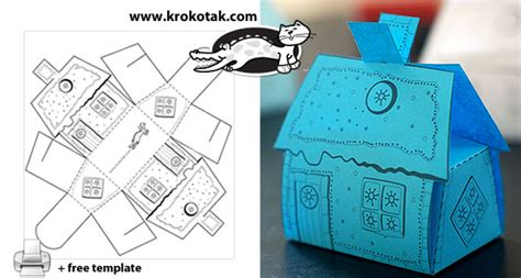 Christmas Decoration Ideas To Make At Home - krokotak a house box for small sweets and gifts