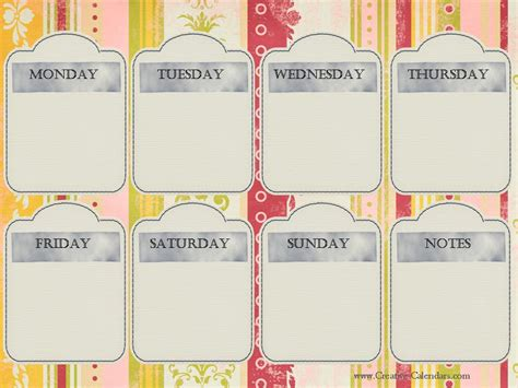 make every day a weekly planner for creative thinkers with techniques exercises reminders and 500 stickers to do books printable weekly calendar