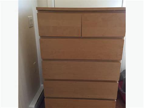 malm 2 drawer chest birch ikea birch malm 6 drawer dresser saanich victoria