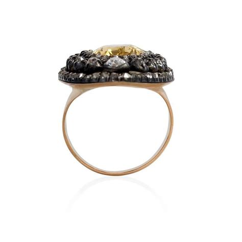 antique topaz silver gold ring at 1stdibs