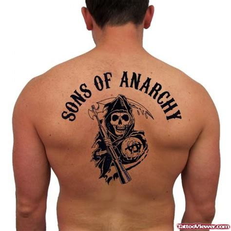 sons of anarchy grim reaper on back viewer