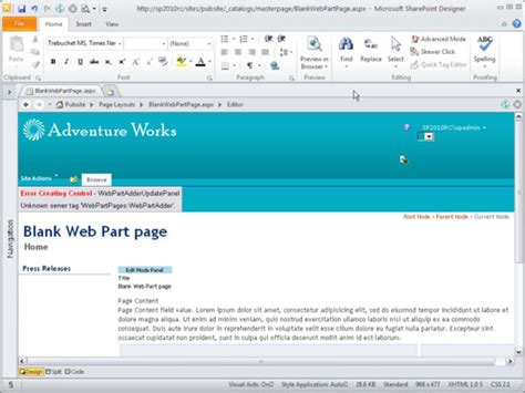 editing page layout in sharepoint 2010 open a sharepoint 2010 page layout for editing dummies