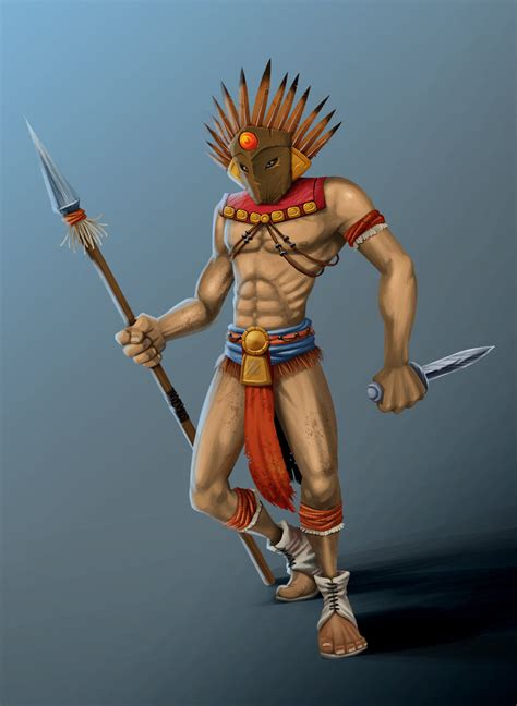 aztec warrior by magirus deutz on deviantart