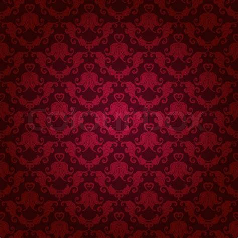 pattern background maroon damask seamless floral pattern stock vector colourbox