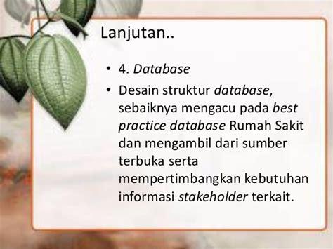 desain struktur database sistem informasi manajemen rumah sakit