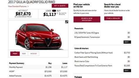 Alfa Romeo Giulia Configurator by The Most Expensive 2017 Alfa Romeo Giulia Is 87 670