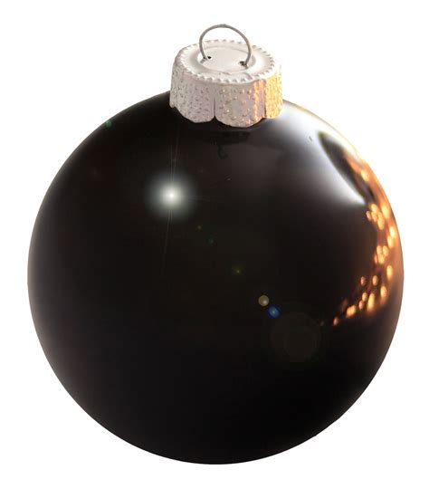 christmas decorations 3 25 quot black ball ornament shiny