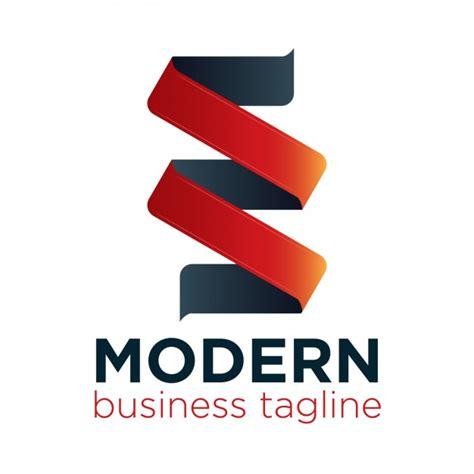ribbon logo reveal free modern ribbon logo vector free