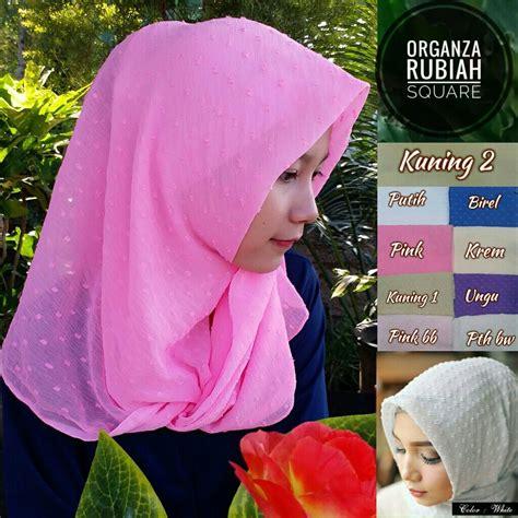 Jilbab Instan Rubiah Triangel Grosir 10pcs segiempat organza rubiah sentral grosir jilbab kerudung i supplier jilbab i retail grosir