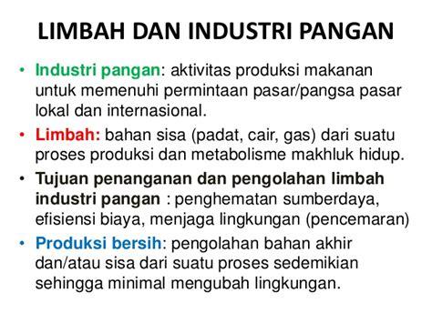Dak Limbah Cair Dari Aktivitas Institusi Dan Industri Anwar penanganan limbah industri pangan