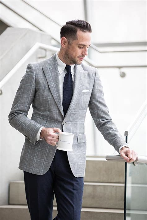 fashion style plaid suit casual the plaid blazer business casual business