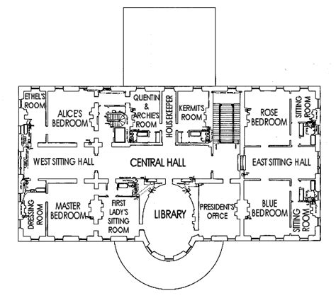 The White House Floor Plan by Whitehouse Floor Plan