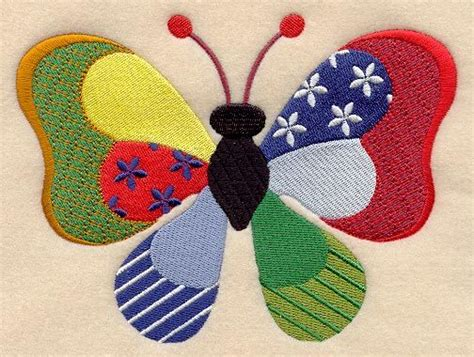 Patchwork Embroidery - best 25 butterfly design ideas on snall