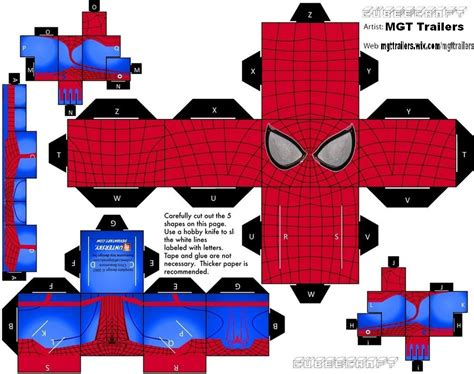 Amazing Papercraft - cubeecraft the amazing spider 2 by mgttrailers on