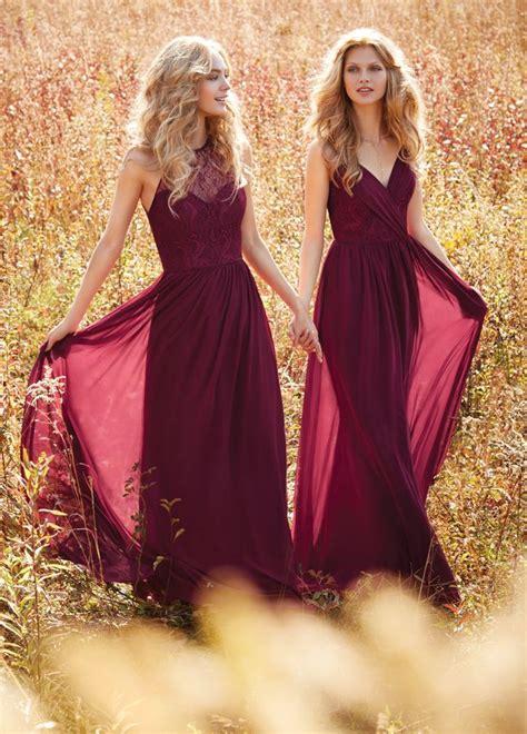 wedding dresses maroon colour best 25 maroon bridesmaid dresses ideas on