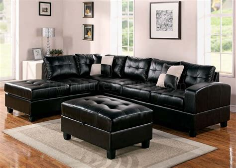 Espresso Sectional Sofa 51195 Kiva Sectional Sofa In Espresso Bonded Leather By Acme