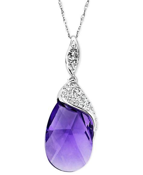 kaleidoscope kaleidoscope sterling silver necklace purple