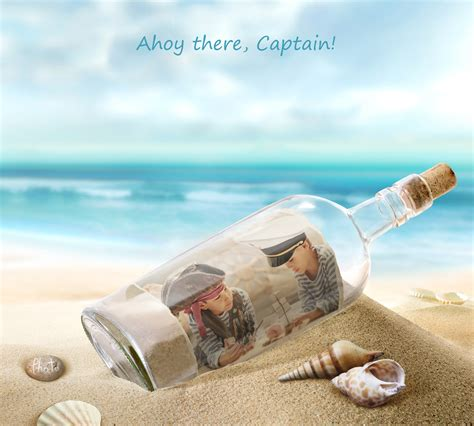 in a put your photo as a message in a bottle
