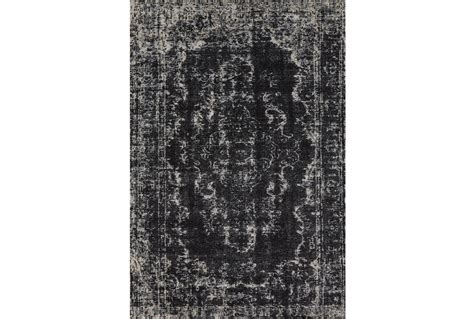 black rug 94x132 rug kyrin black living spaces