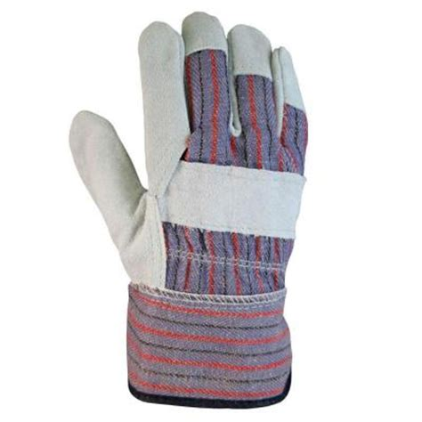 firm grip leather palm large gloves 3 pairs 6023 24