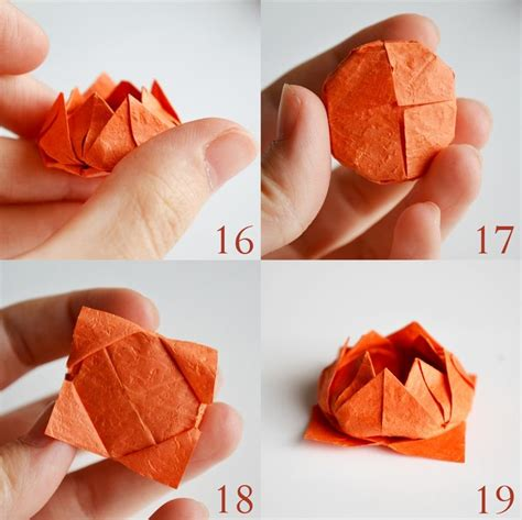 How To Make A Paper Lotus Step By Step - step by step origami lotus flower tutorial information
