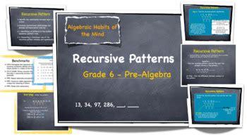 recursive pattern rule recursive patterns lesson plan grades 6 12 by mrs