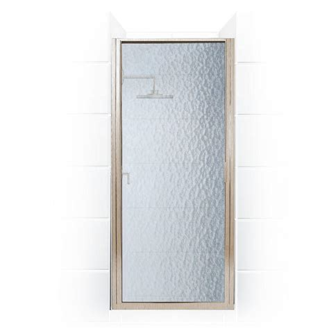 Hinged Glass Shower Door Coastal Shower Doors Paragon Series 30 In X 74 In Framed Continuous Hinged Shower Door In