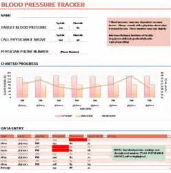 ms excel blood pressure tracker template printable