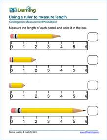 free preschool amp kindergarten measurement worksheets