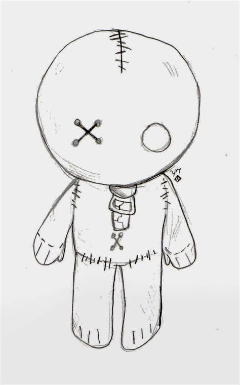i sew cute and draw emo doll by love of the pencil deviantart com on